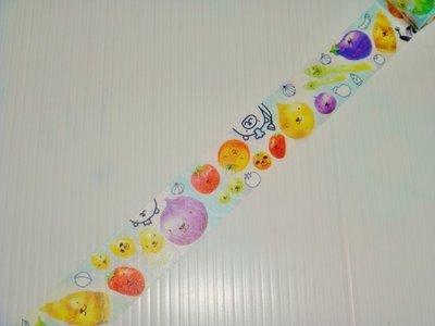 紙膠帶 台灣原創 Ours聯名設計 鄧小熊的隨手筆記 野菜 分裝100cm