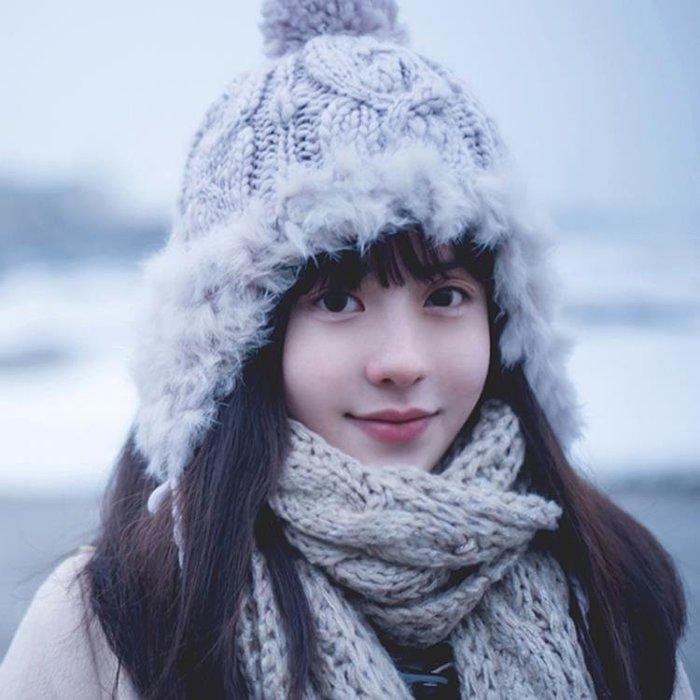 冬天帽子女士毛線帽針織加絨保暖帽女冬季雷鋒帽護耳秋冬遮耳