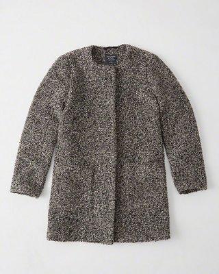 Maple麋鹿小舖 Abercrombie&Fitch * AF 灰黑色羊毛大衣外套*( 現貨M號 )