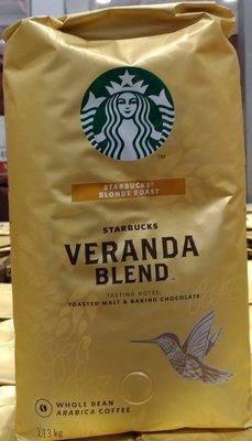 !costco代購 #648080 STARBUCKS 星巴克 黃金烘焙 綜合咖啡豆 1.13kg*