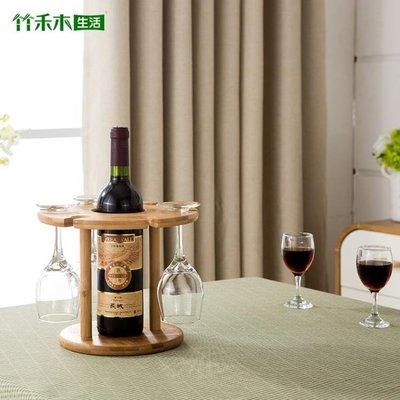 現貨/歐式創意高腳葡萄酒杯架實木客廳倒掛簡約家用紅酒杯子收納酒瓶架   igo/海淘吧F56LO 促銷價