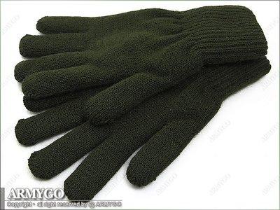【ARMYGO】※加厚雙層※ 國軍制式軍綠色保暖毛線手套