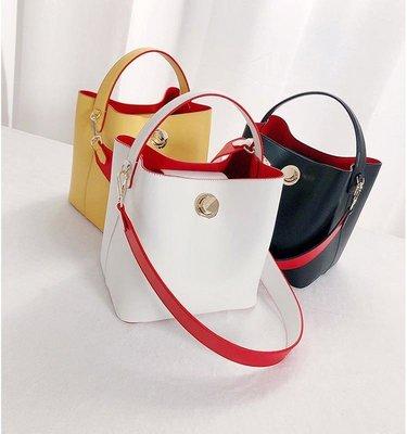 【FQ包包】真皮水桶包 手提包 側背包 單肩包 水桶包 真皮包包 CM 18049