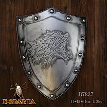 盾牌模型斯巴達300勇士裝飾盾牌中世紀盔甲擺設(兩色可選)*Vesta 維斯塔*