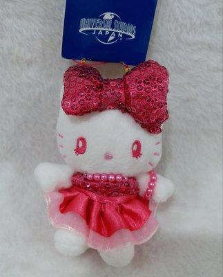 日本環球影城hello kitty坐姿吊飾娃娃玩偶