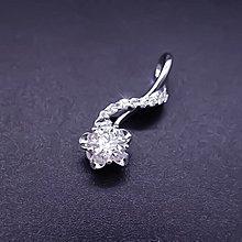 【D-W 香港鑽石世界】全新GIA18K白金 50分 D/ VS1 花漾時尚鑽石墜子--001418-198