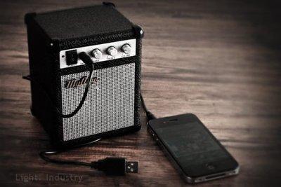 【 輕工業家具 】MP3迷你吉他音箱-myamp出口復古放大器攜帶小音響手機iphone