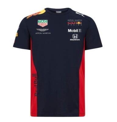 F1賽車服 奧斯頓·馬丁 Aston Martin Red Bull 紅牛短袖T恤 標誌LOGO衣服