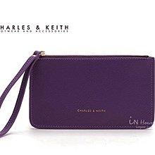 IN House* 新加坡 簡約風 皮質手拿零錢包 證件卡包 手機袋 - 紫 (特價)