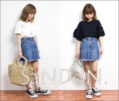 SaNDoN x 『SLY』夏季官網SOLD OUT 流蘇不規則剪裁中高腰牛仔短裙 MOUSSY 韓妮 170630