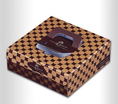 8寸 八寸 格紋 手提 派盒 蛋糕盒 布丁 提拉米蘇 紙盒 含底托 *水蘋果*K-256