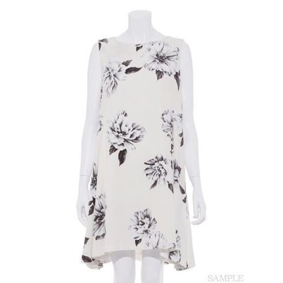 ✶PALI PALI✶全新 專櫃購入 FRAY I.D 日本製高雅氣質桔梗花朵傘狀雪紡洋裝(象牙白1號)