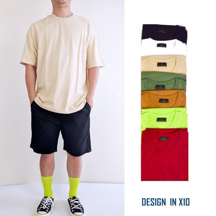 --- X 10 --- 2019 重磅 微寬鬆 落肩 寬鬆  五分袖 短T  螢光色  100%純棉  透氣