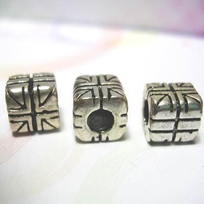 琥珀貓~【925純銀材料配件】造型方珠~N9502~英國旗~一個