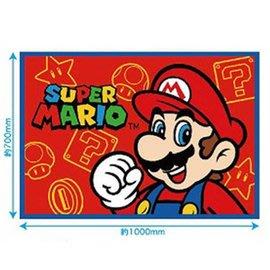 現貨不必等 Super Mario 瑪莉歐 馬力歐 馬利歐 毯被 毛毯-紅 藍 選一 C