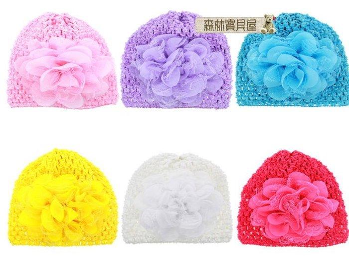 森林寶貝屋~韓款~可愛小花洞洞套帽~嬰兒透氣帽~洞洞帽~嬰兒帽子~推推帽~拍照必備~6色發售