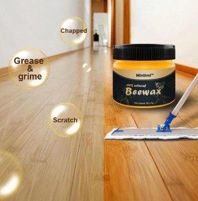 正品保證 家具護理 【買一送二】Wood Seasoning Beewax木地板蜂蠟傢具保養紅木護理拋光光蠟80g