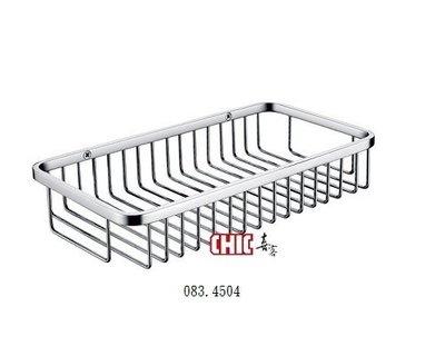 【晶懋生活網】   SUS304不銹鋼方型置物籃   CHIC 喜客  083.4504浴室置物籃