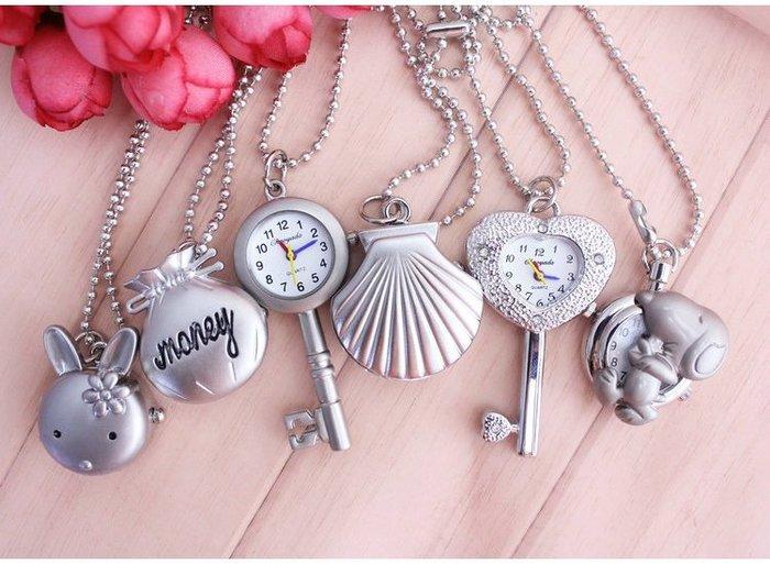 福福百貨~可愛兒童愛心卡通項鏈掛錶/小女孩創意翻蓋懷錶/中小學生電子錶手錶~多種款式