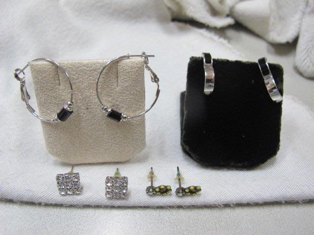 二手舖 NO.2902 造型耳環 耳針 4對一組 便宜賣 首飾飾品