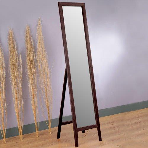 雅緻穿衣鏡 全身鏡 化妝鏡 壁鏡 鏡子 立鏡【Yostyle】 MR-933C(胡桃)