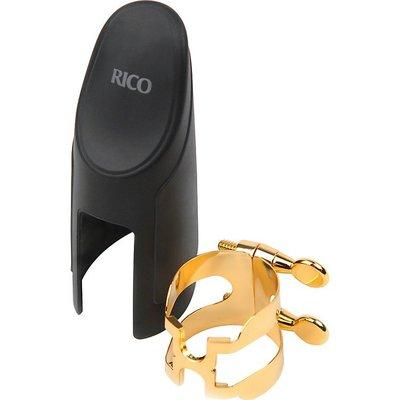 §唐川音樂§【RICO Alto SAX 薩克斯風 中音 H型 束圈 鍍金束圈】膠嘴用