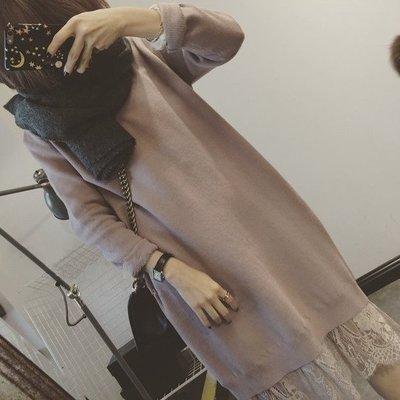 【Casi Cielo】韓國訂單 超推薦~質感 唯美蕾絲 羊絨毛衣 連身裙 長裙 洋裝 韓妮可樂果 dobe 1025