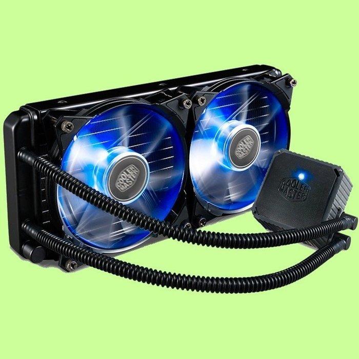 5Cgo【權宇】海魔支持多款CPU酷冷至尊海魔240 160片流道水冷散熱器套裝 陶瓷軸承炫光120mm超靜音雙風扇含稅