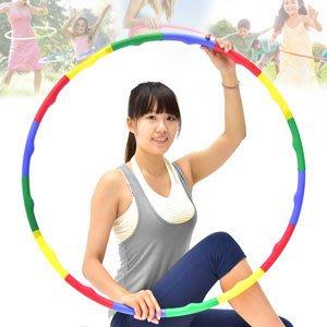 可拆卸式80CM按摩呼拉圈80公分波浪呼拉圈組合式韻律體操圈收納硬管美體圈健身圈兒童成人健身P260-005【推薦+】