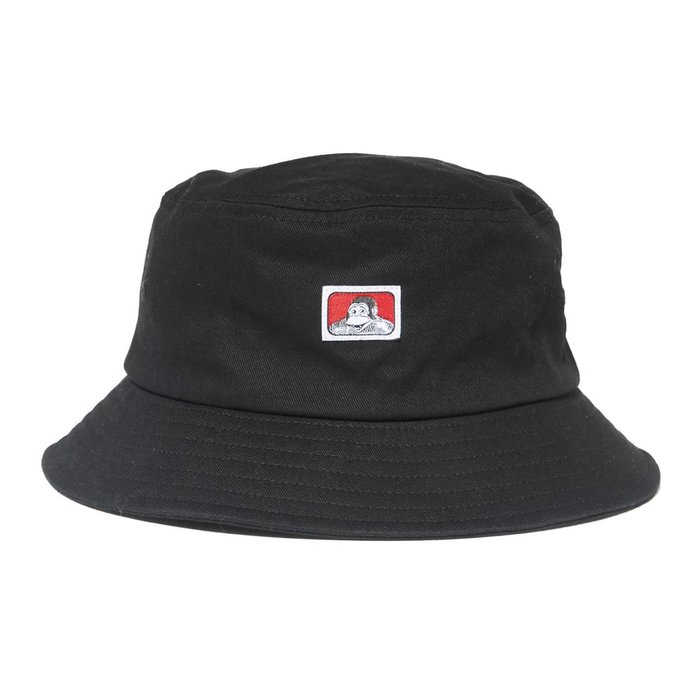 【Brand T】免運 BEN DAVIS CLASSIC BUCKET HAT 黑色*LOGO*漁夫帽*猿人*經典