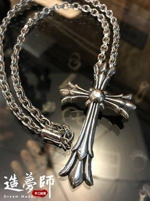造夢師 手工訂製【Chrome Hearts】【復刻】Double CH cross CH雙十字架墜飾 L 吊墜/項鍊