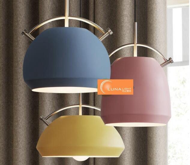 【LUNA LIGHT 月之燈坊】北歐簡約馬卡龍餐廳吊燈吧檯燈咖啡廳燈(P-524) 另有工業吊燈