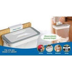 【心海】廚房廚餘門後垃圾袋架 廚櫃門收納 垃圾架垃圾桶Attach-A-Trash