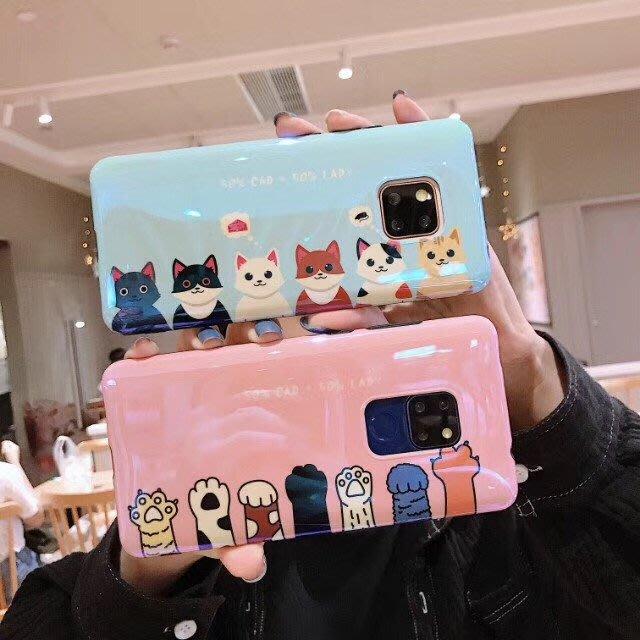 華為 mate10 mate20 p20 pro mate20X 手機殼 可愛貓咪 藍光貓爪 軟殼全包 防摔抗震 保護套