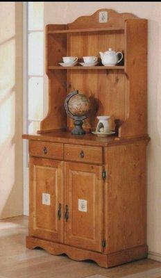 磁磚實木餐櫃