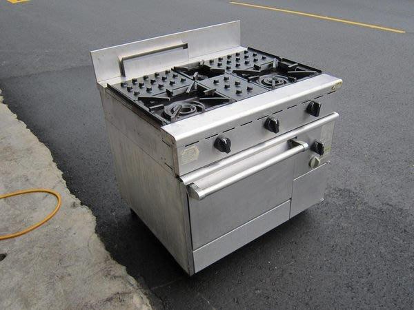 鑫忠廚房設備-餐飲設備:二手進口二主ㄧ副西餐爐烤箱 賣場有-冰箱-咖啡機-水槽-工作檯