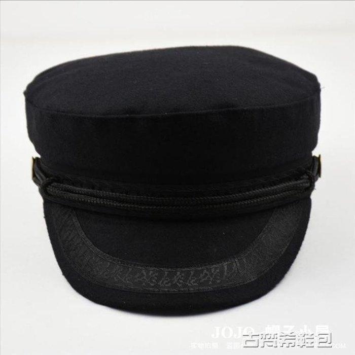 貝雷帽 蕾絲裝飾海軍帽秋冬毛呢女帽 歐美風平頂帽精品帽