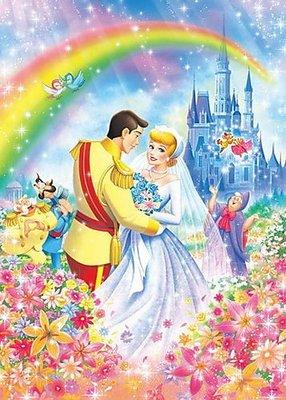 (藝)日本進口原版拼圖迪士尼 500片 灰姑娘的王室婚禮 D-500-462˙