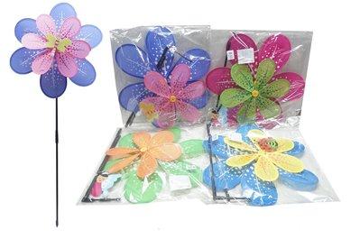 佳佳玩具 ----- 40CM 雙層 風車 童玩 兒童 單支裝 小花 風車 夜市玩具 幼教 贈品【YF12225 】