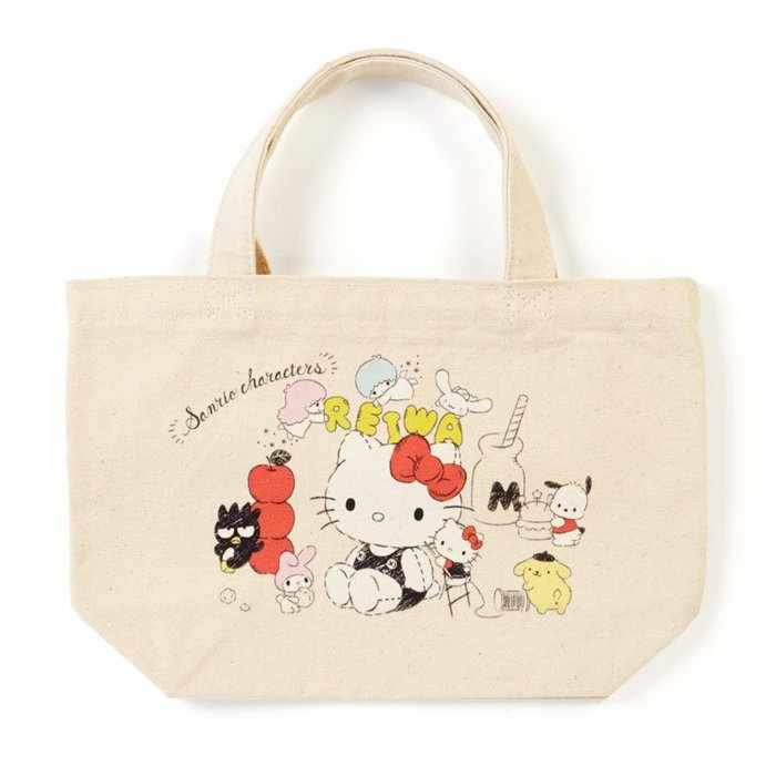 提袋 三麗鷗 Hello Kitty 令和 滿版 插圖 手提 帆布袋 正版日本進口授權