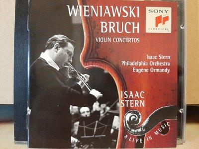 Isaac Stern,Ormandy,Wieniawski,Bruch-V.c,史坦,奧曼第,演繹:韋尼奧夫斯基 & 布魯赫-小提琴協奏曲,如新。