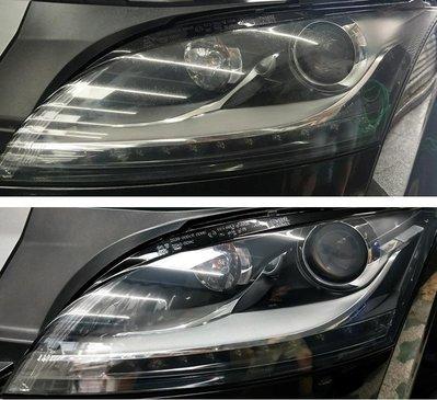 大燈快潔 奧迪 Audi RS6 Q3 Q5 Q7 R8 TT Q2 RS5 A8 原廠大燈泛黃霧化拋光翻新處理