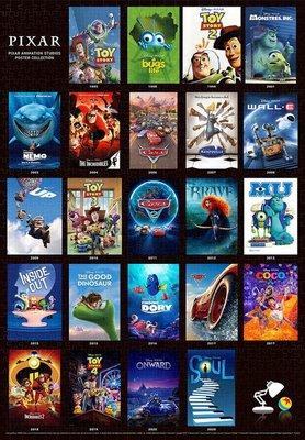 日本進口拼圖 迪士尼 皮克斯 經典電影海報 玩具總動員 CARS 怪獸電力公司 1000片拼圖 1000-065