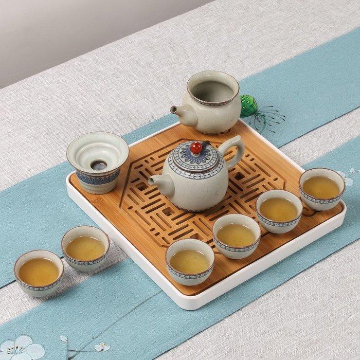 日式陶瓷小茶具套裝家用簡約迷你復古6 人茶杯套裝功夫旅行便攜包#茶具#旅行茶具#茶具套裝#便攜