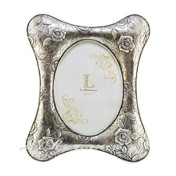 【芮洛蔓 La Romance】古銀布紋玫瑰5 x7 相框(大) / 相本 / 照片 / 紀念日 / 結婚禮物