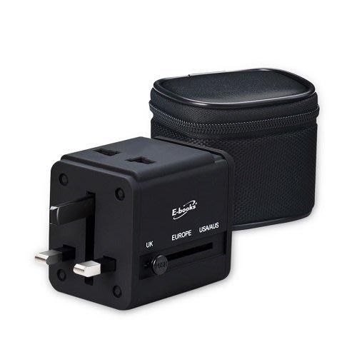 【須訂購】B27雙孔USB萬國轉接頭充電器-贈收納包 高效能2.1A大電流,雙USB輸出符合台灣商檢局檢磁認證