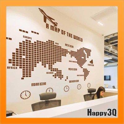 世界壁貼世界地圖馬賽克地圖牆貼大型馬賽克造型壁貼辦公室-棕/灰/白/黑/藍/紅【AAA3112】