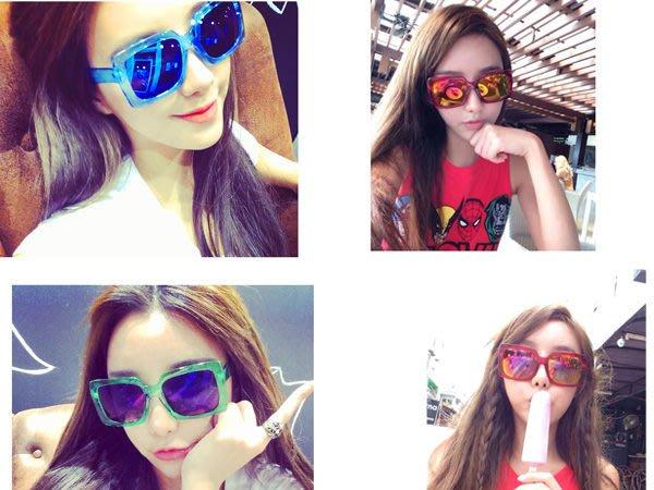 蝦靡龍美【EY385】巴洛克 金屬復古 個性 歐美 防紫外線 太陽眼鏡 水銀反光 墨鏡 百搭明星款 少女時代 日本 韓國