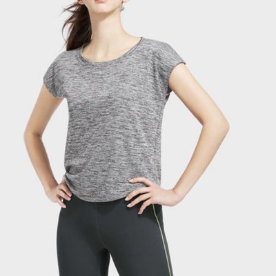 Lativ 吸汗 排汗 寬版  短袖  T恤  上衣  休閒   麻灰 運動服 瑜伽服 居家 平價服飾 國民服飾 慢跑