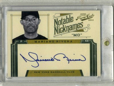 2012 Prime Cuts Notable Nicknames Mariano Rivera 綽號簽 限量49張